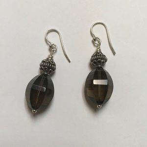 Jewelry - Smokey Quarts and 925 Earrings